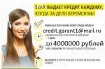 Гарантированная помощь заемщикам с любой кредитной историей,