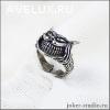 кольцо Чеширский кот с камнями