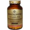 Магний с витамином, В6, 250 таблеток, Витамины, Солгар