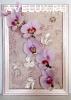 Объемное панно с искусственными цветами
