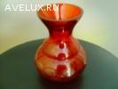 Продам вазу красного стекла. СССР.