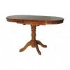 Стол Овальный деревянный обеденный одна ножка